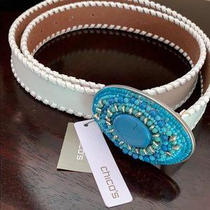 Chico's belt leather
